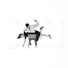 Spankings Aluminum License Plate