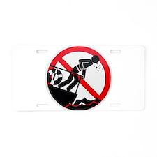Sea Sick Aluminum License Plate