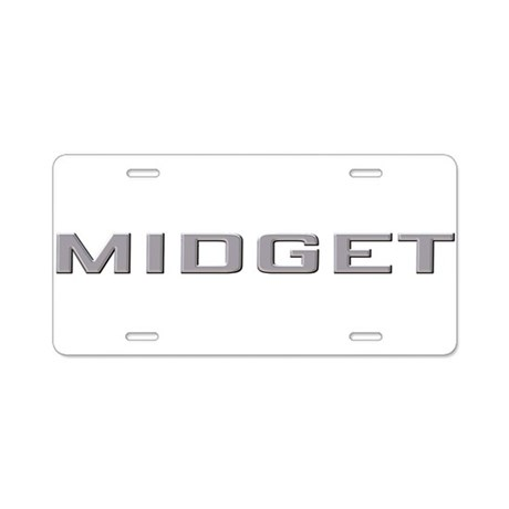 MG MIDGET Aluminum License Plate