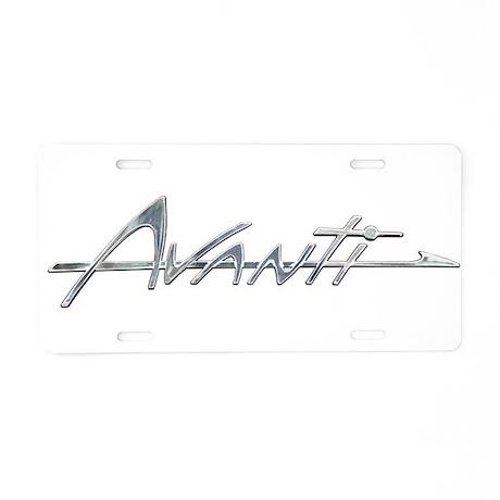 Avanti Aluminum License Plate