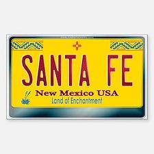 """""""SANTA FE"""" New Mexico License Plate Bumper Stickers"""