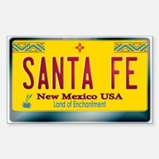 """SANTA FE"" New Mexico License Plate Decal"