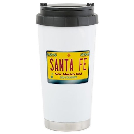 """SANTA FE"" New Mexico License Plate Stainless Stee"