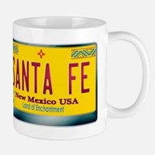 """SANTA FE"" New Mexico License Plate Mug"