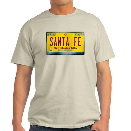 """SANTA FE"" New Mexico License Plate Light T-Shirt"