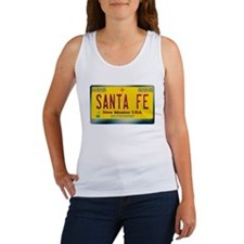 """SANTA FE"" New Mexico License Plate Women's Tank T"