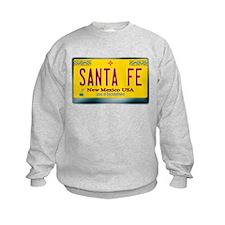 """SANTA FE"" New Mexico License Plate Sweatshirt"