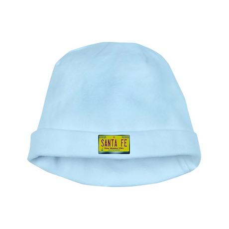 """SANTA FE"" New Mexico License Plate baby hat"