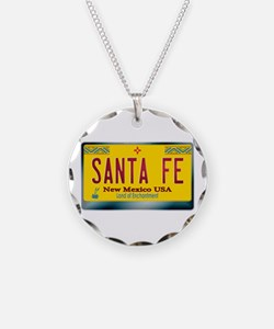 """SANTA FE"" New Mexico License Plate Necklace"
