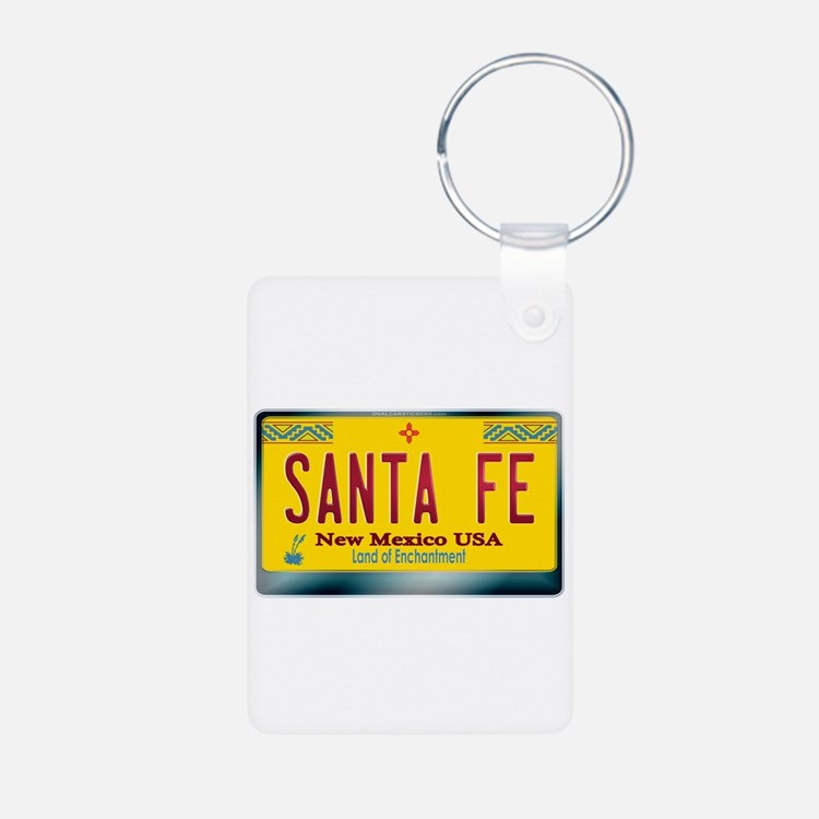 """SANTA FE"" New Mexico License Plate Keychains"