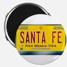 """SANTA FE"" New Mexico License Plate Magnet"