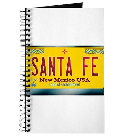"""SANTA FE"" New Mexico License Plate Journal"
