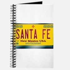 """SANTA FE"" New Mexico License Plate Journal"