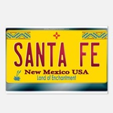 """SANTA FE"" New Mexico License Plate Postcards (Pac"