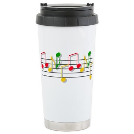 Musical Notes Stainless Steel Travel Mug