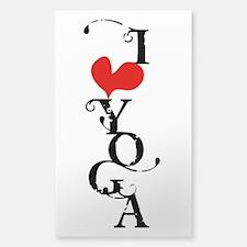 I heart YOGA Decal