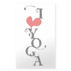 I heart YOGA Sticker (Rectangle)