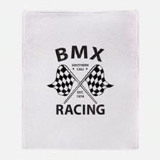 Vintage BMX Racing Throw Blanket
