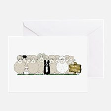Sheep Family Greeting Card