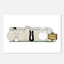 Sheep Family Postcards (package Of 8)