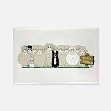 Sheep Family Rectangle Magnet Magnets