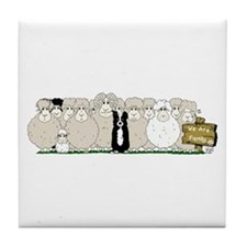 Sheep Family Tile Coaster