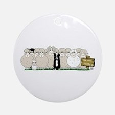 Sheep Family Ornament (Round)