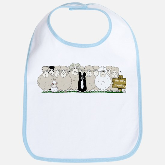 Sheep Family Bib