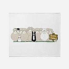 Sheep Family Throw Blanket
