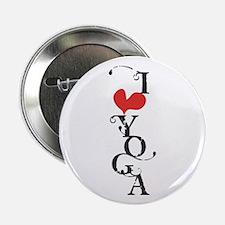 "I heart YOGA 2.25"" Button"