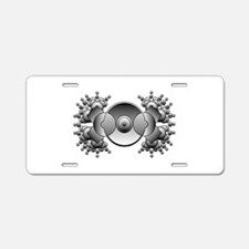 Crop Circle Aluminum License Plate