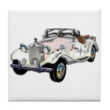 Classic White and Gold MG Con Tile Coaster
