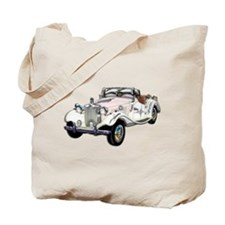 Classic White and Gold MG Con Tote Bag