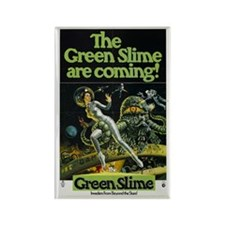 The Green Slime are Coming Movie Poster Magnet