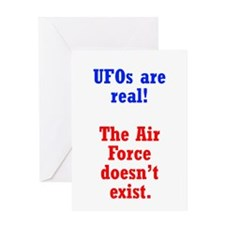 UFOs are Real Greeting Card