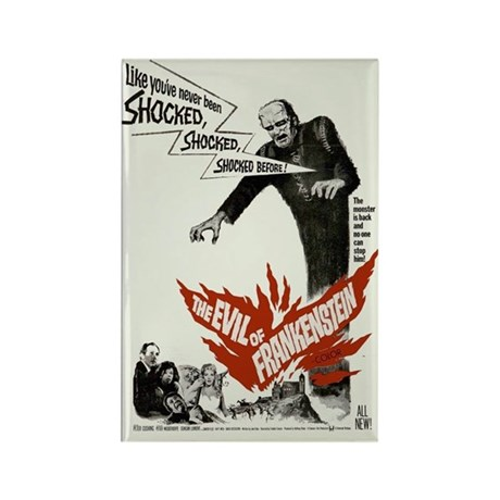 The Evil of Frankenstein Movie Poster Magnet