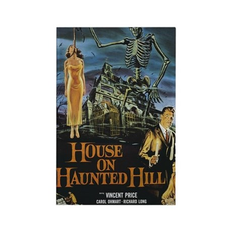 House On Haunted Hill B-Movie Poster Magnet