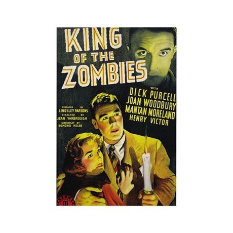 King of the Zombies Horror Movie Poster Magnet