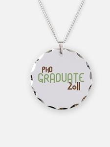PhD Graduate 2011 (Retro Green) Necklace