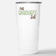 PhD Graduate 2011 (Retro Green) Travel Mug