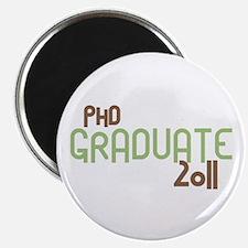 PhD Graduate 2011 (Retro Green) Magnet