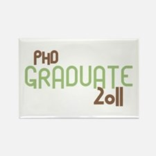 PhD Graduate 2011 (Retro Green) Rectangle Magnet