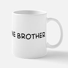 I Love My Marine Brother Mug