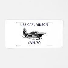 USS CARL VINSON Aluminum License Plate