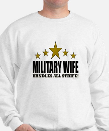 Military Wife Handles All Strife Sweater