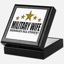 Military Wife Handles All Strife Keepsake Box
