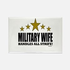 Military Wife Handles All Strife Rectangle Magnet
