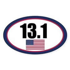 United States half marathon oval sticker