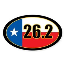 Texas Full Marathon oval sticker 26.2 miles