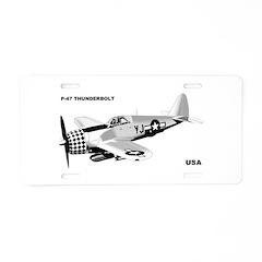 P-47 Aluminum License Plate